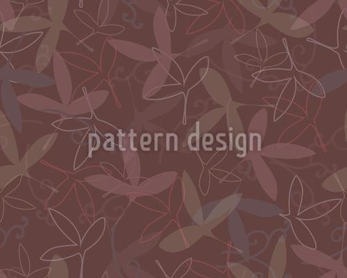 Blütenblatt Silhouetten Nahtloses Vektor Muster