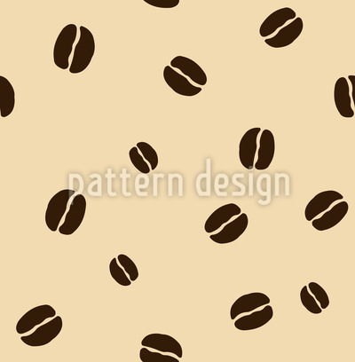 Coffee Beans Vector Pattern
