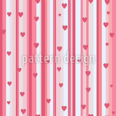 Romantische Herzen Auf Streif Rapportmuster