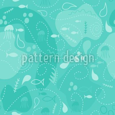 Miros Unterwasser Patchwork Rapportiertes Design