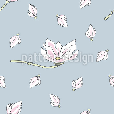 Magnolia Bloom Vector Ornament