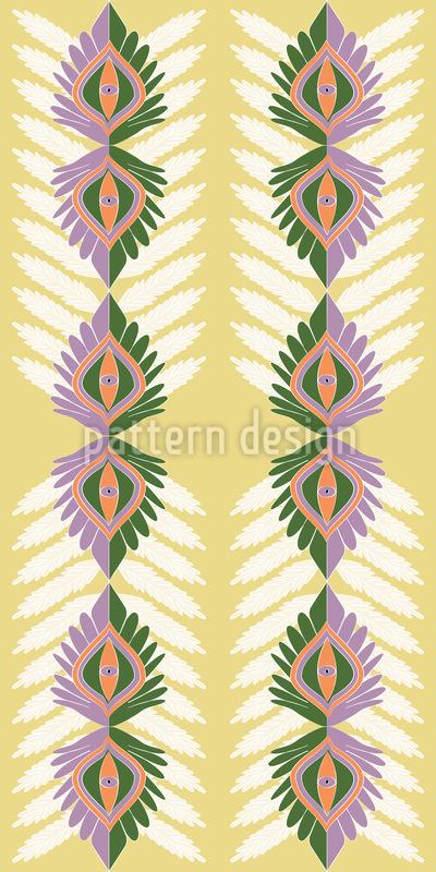 Vertikale Ethno Blätter Vektor Design
