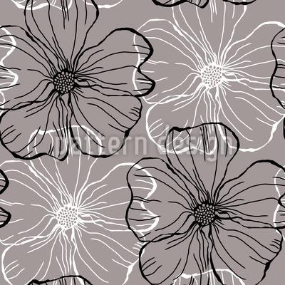 Malven Blüten Rapport