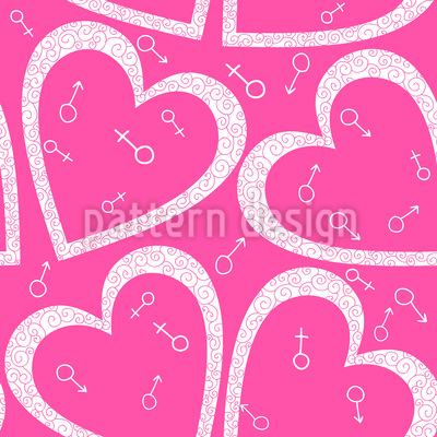 Herz Für Sie Und Ihn Muster Design