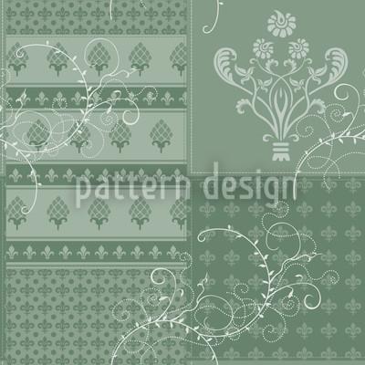 Symphony Floral Green Pattern Design