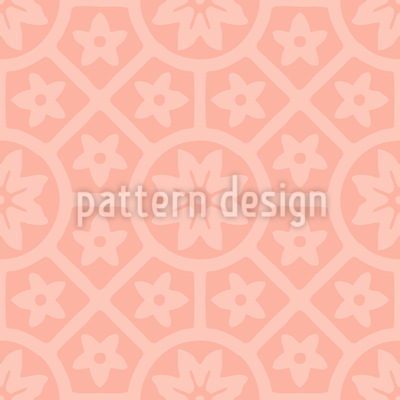 Terracotta Rosettes Seamless Vector Pattern
