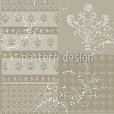 Symphony Floral Beige Vector Ornament