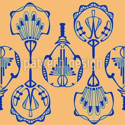 Uchiwa Art Deco Vector Pattern