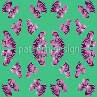 Vertical Fan Seamless Vector Pattern