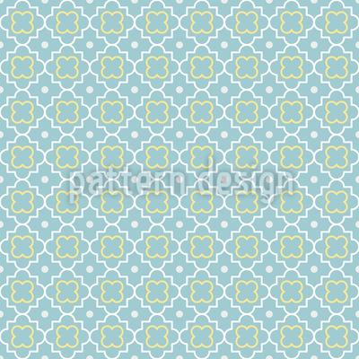 Quatrefoil In Spring Pattern Design