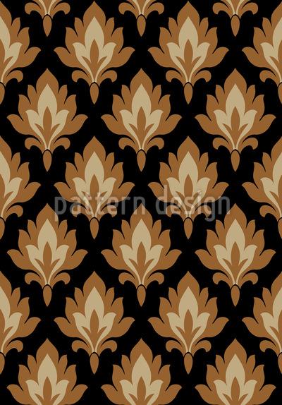 Folklore Damask Vector Design