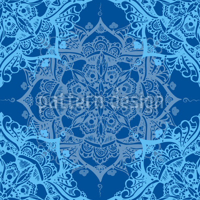 Neptun Mandala Nahtloses Vektor Muster
