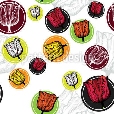 Tulip Stickers Repeating Pattern