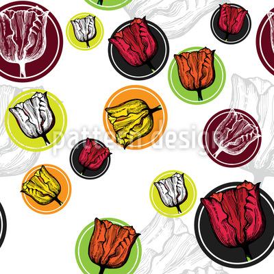 Tulpen Sticker Rapportiertes Design