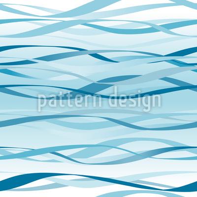 Blaue Wellen Rapportiertes Design