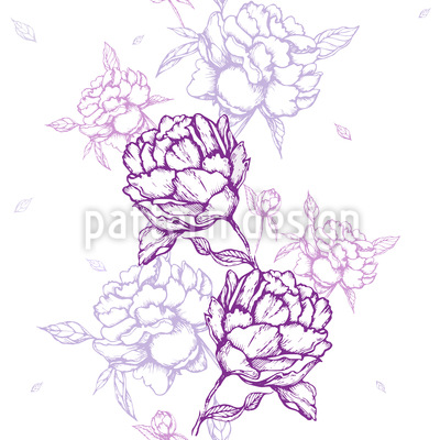 French Peonies Pattern Design