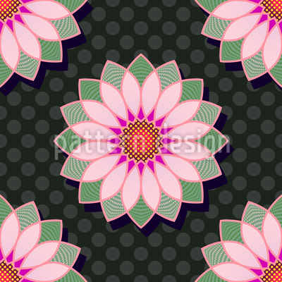 Lotus Polkadot Vector Ornament
