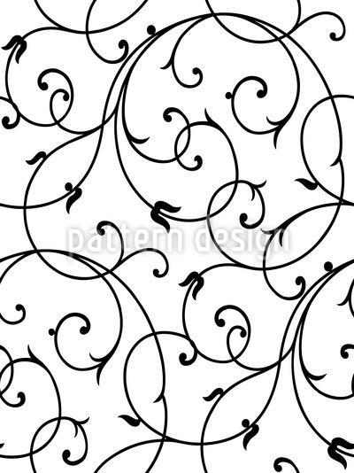 Schnörkel Zart Nahtloses Muster
