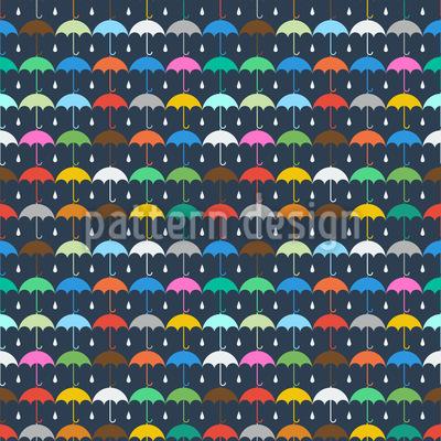 Umbrella And Raindrop Seamless Pattern