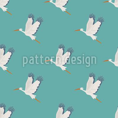 Stork Flight Vector Pattern