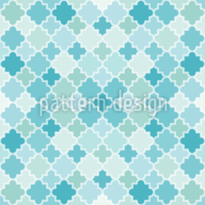 Quatrefoil Mosaik Vector Ornament