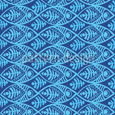 Maori Fish Vector Pattern