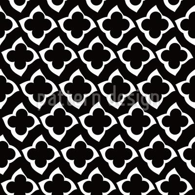 Quatrefoil In The Dark Pattern Design