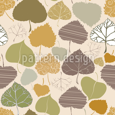 Blatt Welt Im Herbst Vektor Ornament