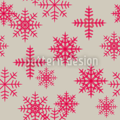 Ice Crystals Pink Design Pattern