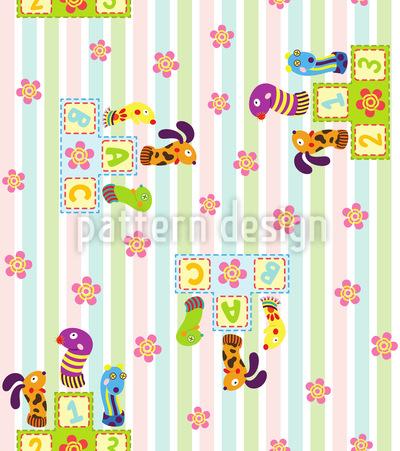 Animal Winner In The Nursery Seamless Pattern