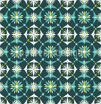 Floral Mosaic In Spring Seamless Vector Pattern
