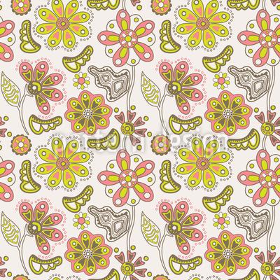 Wo Die Schönen Blumen Wachsen Vektor Muster