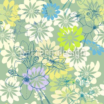 Der Frühling Liebt Alle Blumen Vektor Design