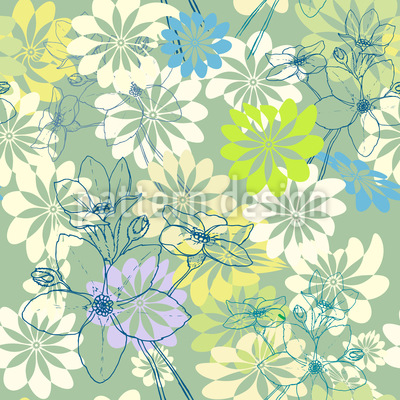 Spring Loves All The Flowers Vector Design