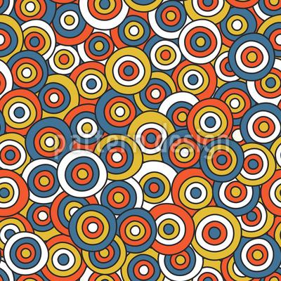 Kreise Über Kreise Nahtloses Muster