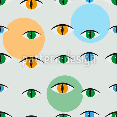 Cat Look Vector Pattern