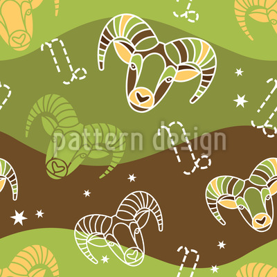 Born In Capricorn Sign Design Pattern