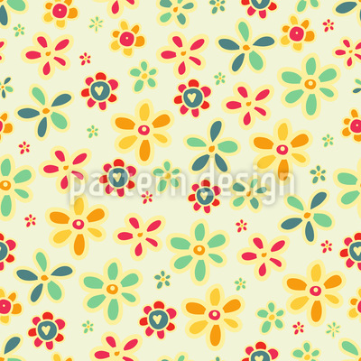 We Love All Flowers Vector Ornament