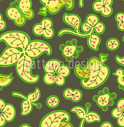 Fresh Garden Fantasy Vector Ornament