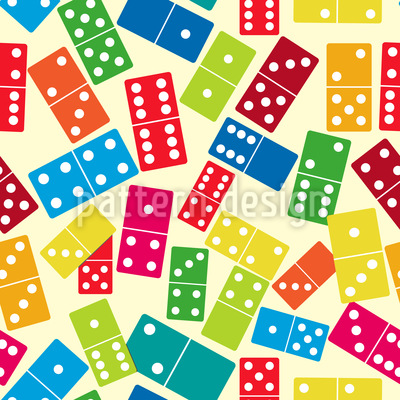 We Play Dominoes Seamless Vector Pattern