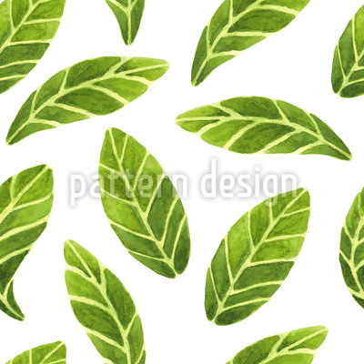 Watercolor Leaves Pattern Design