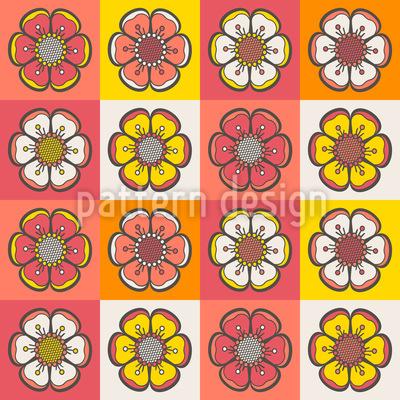 Böhmisches Blumen Patchwork Vektor Muster