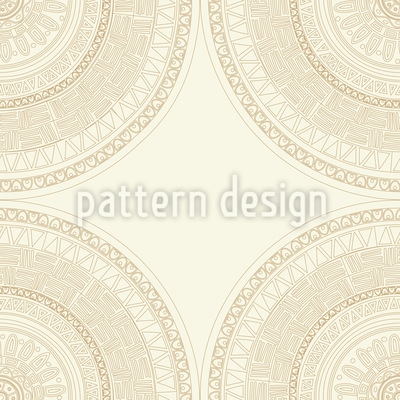 Aztec Mandala Seamless Vector Pattern