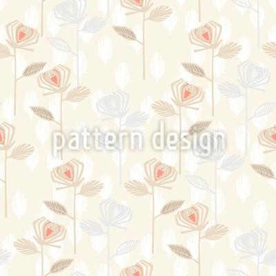 Rose Garden Of The Fifties Vector Pattern