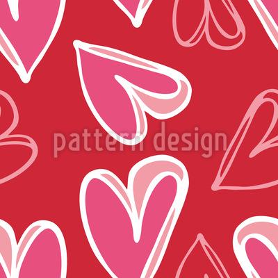 Herz Für Herz Rapportiertes Design