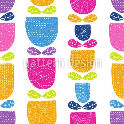 Genähte Tulpen Muster Design