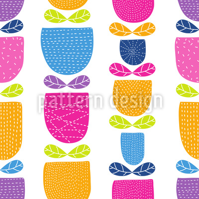 Stitched Tulips Pattern Design