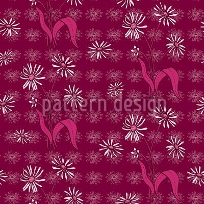 Gänseblümchen Purpur Muster Design