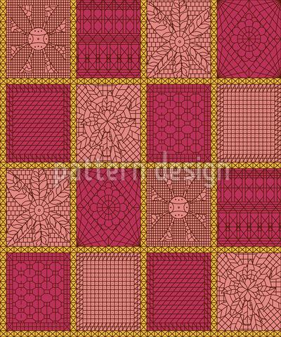 Häkel Patchwork Vektor Muster