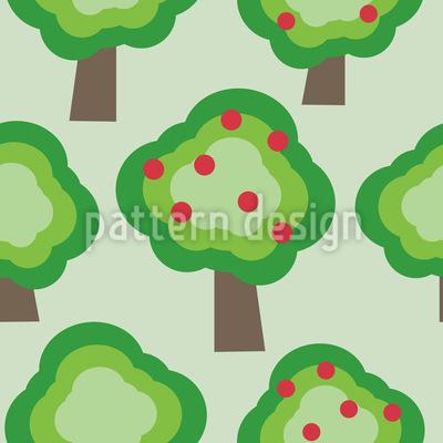 Apfelbäume Rapportiertes Design